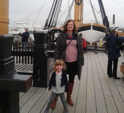 Descendant of Admiral Lord Nelson visits his famous ship