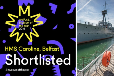 HMS Caroline has been shortlisted for Art Fund Museum of the Year Award
