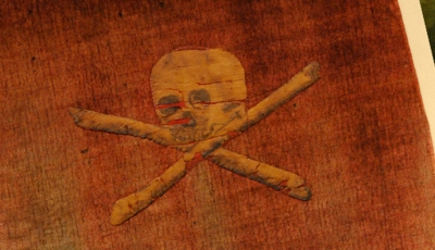 An 18th century pirate flag belonging to legendary Admiral Richard Curry