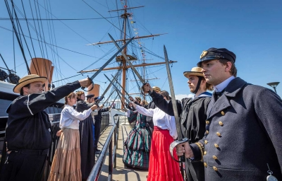 A cutlass drill performed by our Dockyard Alive team wowed the crowds