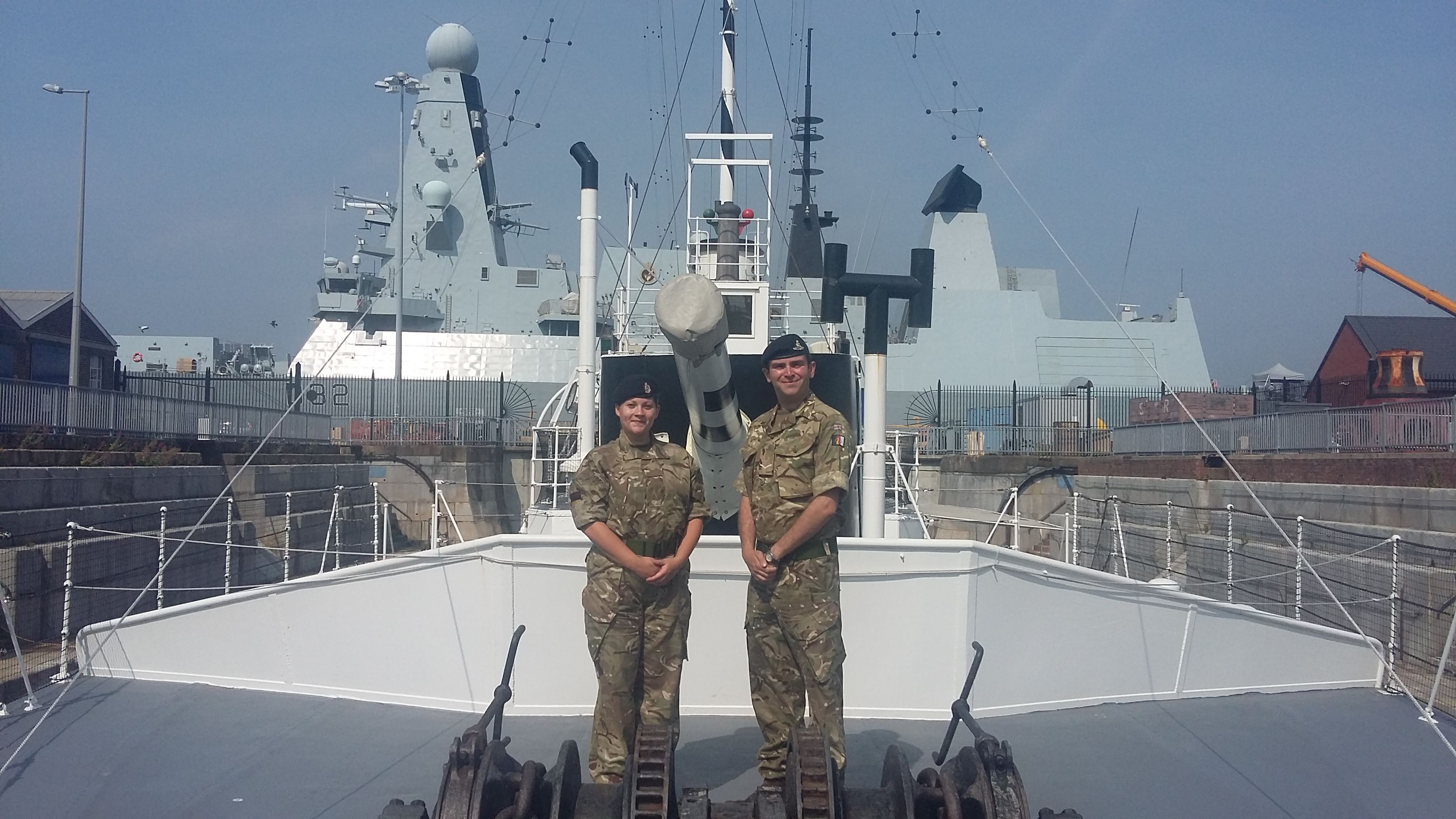 Hannah and Marcus - Reservists on HMS M33