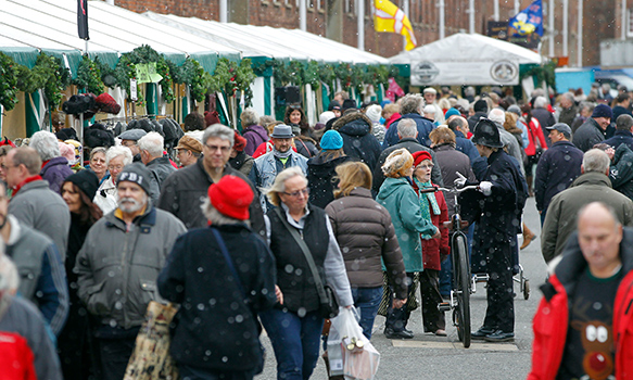 Shopping at Christmas Festival