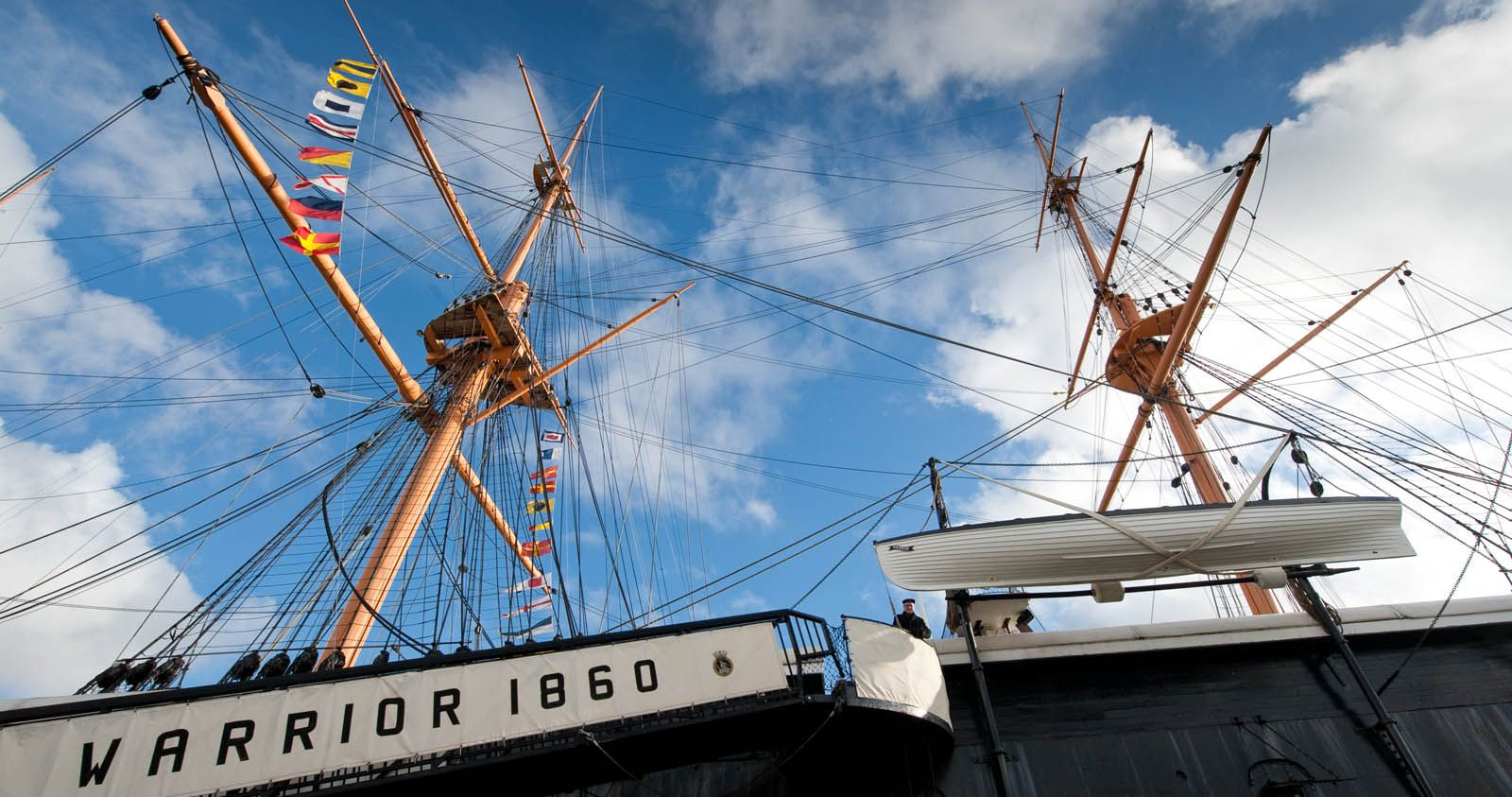 Enjoy the atmospheric and powerful HMS Warrior 1860