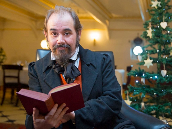 Charles Dickens greeted visitors to The Dickens Christmas Festival recently