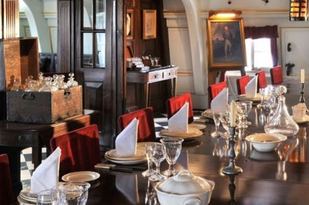 Dinner party on HMS Victory