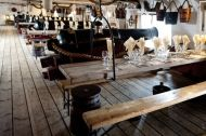Dinner party on HMS Warrior 1860