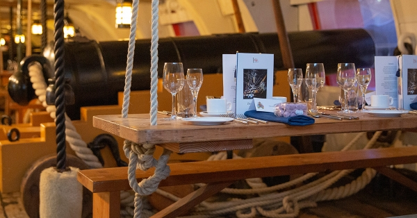 Enjoy a one-of-a-kind experience onboard HMS Warrior this season